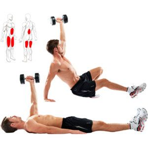 1/2 Turkish Get-Ups are an incredible move to demolish the core and build defined, muscular shoulders + arms. They burn a ton of calories and fat, too.