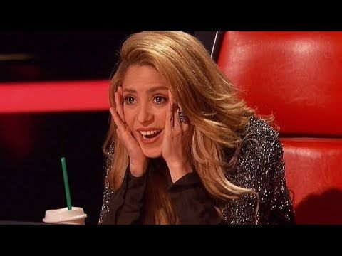 Shakira Shocked By Fan Singing Her Song - The Voice Audition [Pop]