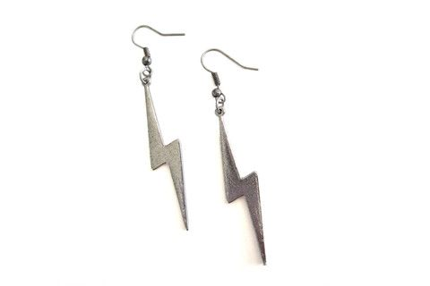 Heavy Metal Thunderbolt Earrings – Dirty Lola's