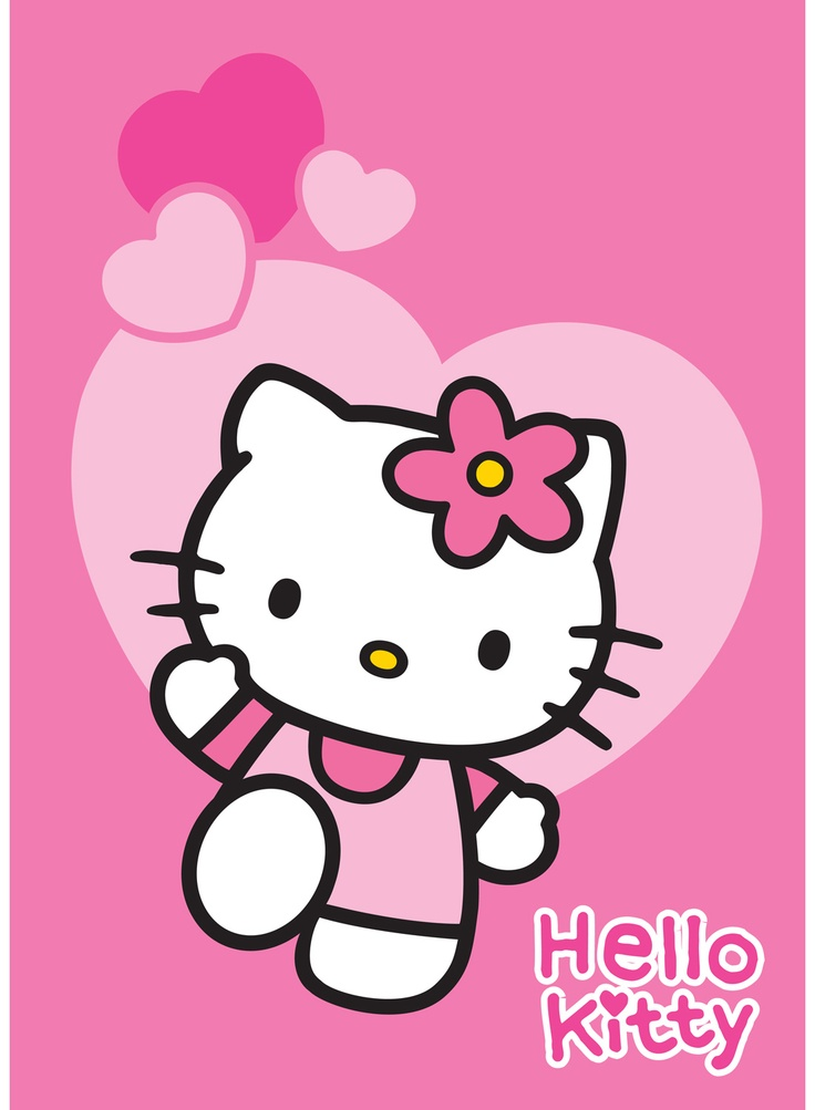 Hello kitty - Tapis Love rose