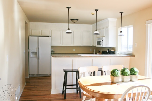 Adding Beadboard To Kitchen Soffits Space Above Cabinets