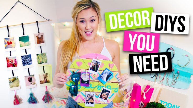 Room Decor DIYs & Organization Ideas You NEED! | LaurDIY - Macaron Corkboard, Wood and String Photo Board, String Polaroid Display