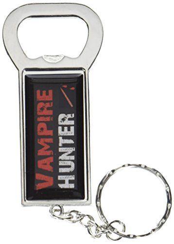 graphique et plus Bague Bottlecap Opener Porte-clés, Vampire Hunter (Kk0517): Plaqué chrome décapsuleur porte-clés Design 3d uréthane…