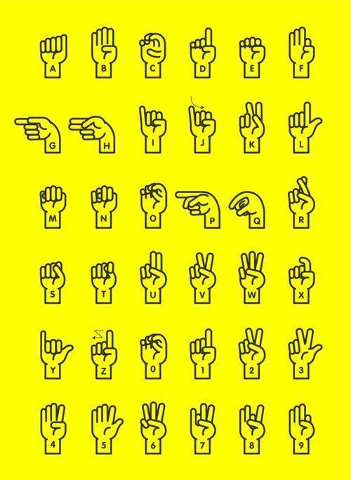 Incredibly useful sign language poster by Yong Wen Yeu.
