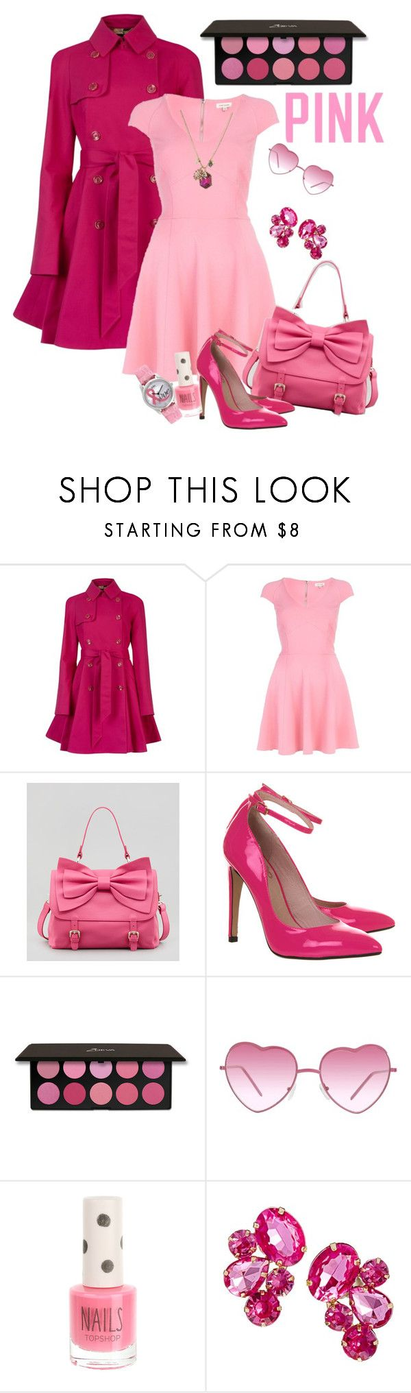 """""""Think about PINK...."""" by glitterlady4 ❤ liked on Polyvore featuring Ted Baker, River Island, RED Valentino, Office, Almost Famous, Topshop, ASOS, Jolie, Betsey Johnson and Victoria's Secret PINK"""