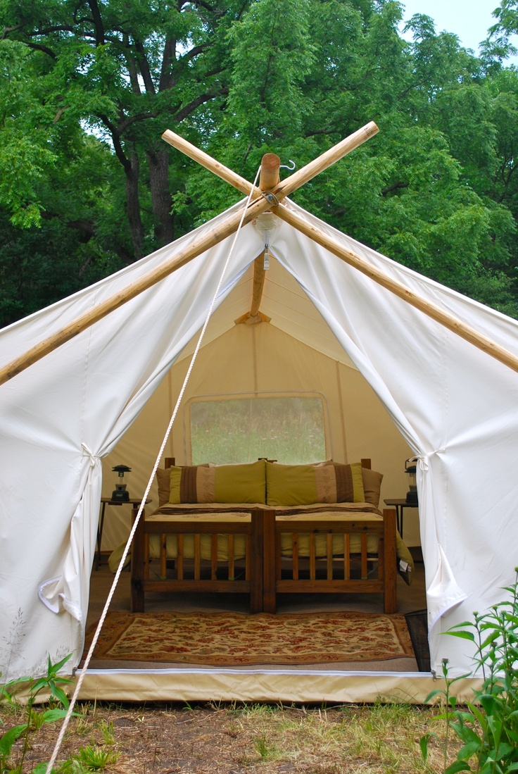 A fully furnished Standard Safari Tent at a private family event in Chicago, IL.  canvasevent.com