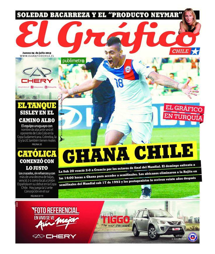 Portada del diario El Gráfico del 4 de julio de 2013