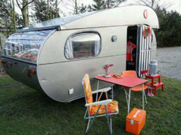 Customised vintage campers in Odense, Denmark.