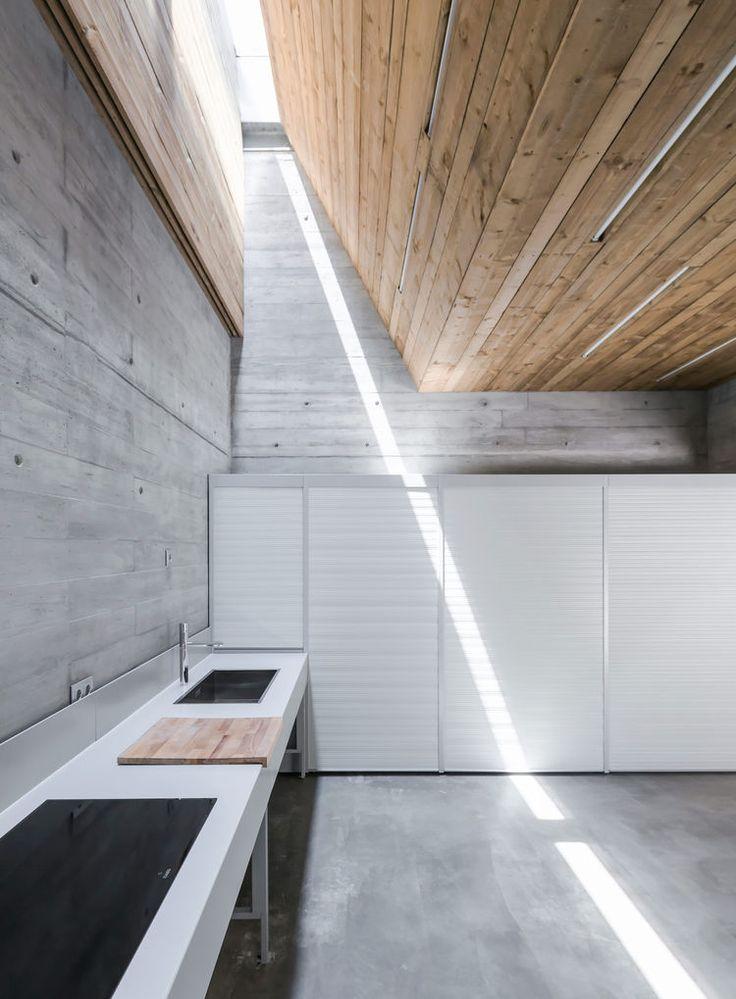 Modern concrete kitchen in Portugal retreat