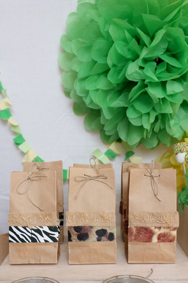 Animal Party  Nice Party events  favour bags