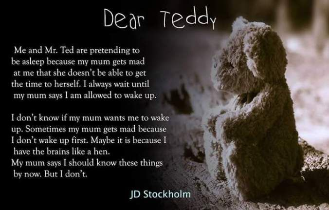 Dear Teddy  My Nan said if I did good at school she would help me get something for my mum. It got to be her birthday soon. My mum liked music. She had lots of records. She liked to listen to them in the light time. My Nan showed me which one to get. It was two pounds. I didnt have any money. But my Nan said if I got to be good she would help me to get it. I got happy in my tummy. When I went in the shop I always checked that no one else got it. My Nan said it was okay. She said it would…