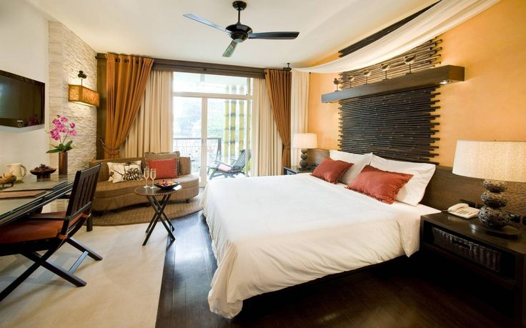 Interesting Interior Design With Sofa Double Size Bed Ceiling Fan For #Bedroom Interior Design  http://www.urbanhomez.com/decors/bedroom http://www.urbanhomez.com/suppliers/interior_designer/chennai http://www.urbanhomez.com/suppliers/interior_designer/bangalore http://www.urbanhomez.com/suppliers/architects/bangalore http://www.urbanhomez.com/suppliers/modular_kitchen,_fittings_and_accessories/chennai http://www.urbanhomez.com/suppliers/modular_kitchen,_fittings_and_accessories/bangalore