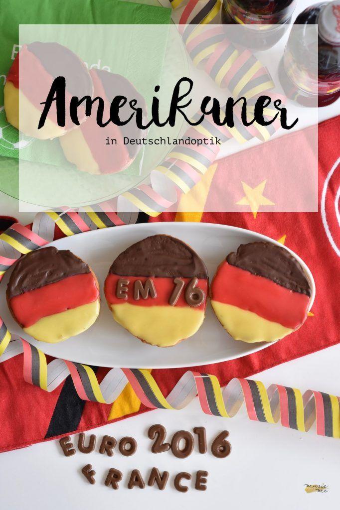 Amerikaner in Deutschlandoptik | Snack, Kuchen für die Europameisterschaft 2016 | music-me.de