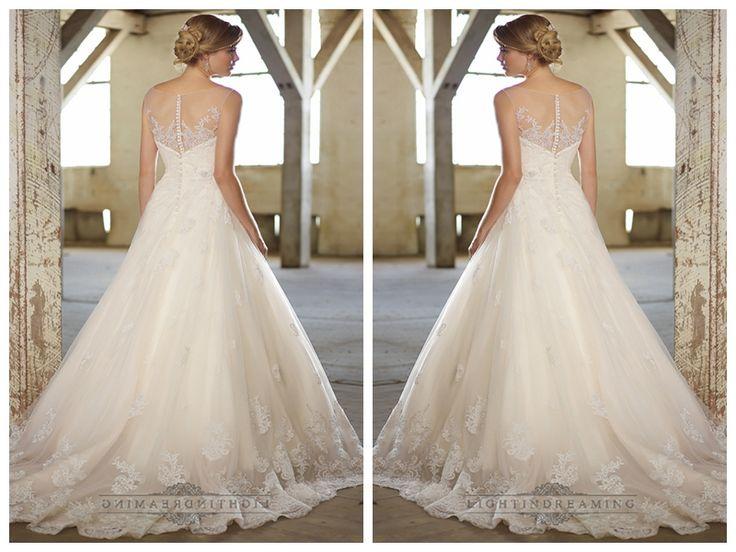 Stunning A-line Illusion Neckline & Back Lace Wedding Dresses http://www.ckdress.com/stunning-aline-illusion-neckline-back-lace-  wedding-dresses-p-456.html  #wedding #dresses #dress #lightindream #wed #clothing #gown   #weddingdresses #dressesonline #dressonline #bride