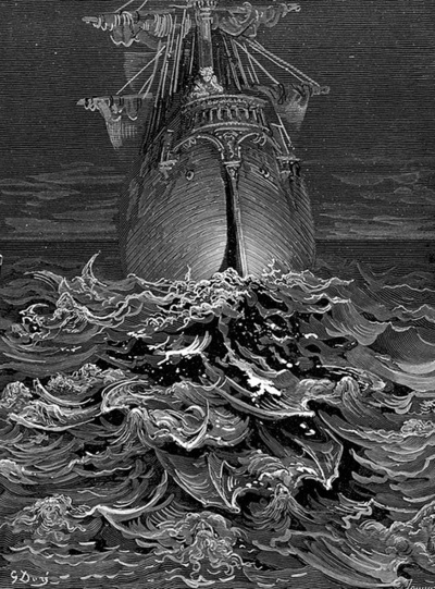 Gustave Doré illustration from Coleridge's The Rime of the Ancient Mariner