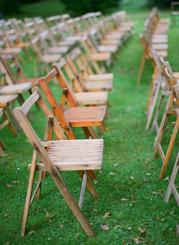Wooden Chairs for Ceremony  Photography: Brosnan Photographic - brosnanphotographic.com Event Styling: Pearl and Godiva - pearlandgodiva.com/ Floral Design: Best of Buds - bestofbudsflorists.com/  Read More: http://www.stylemepretty.com/2013/03/15/ireland-wedding-from-brosnan-photographic/