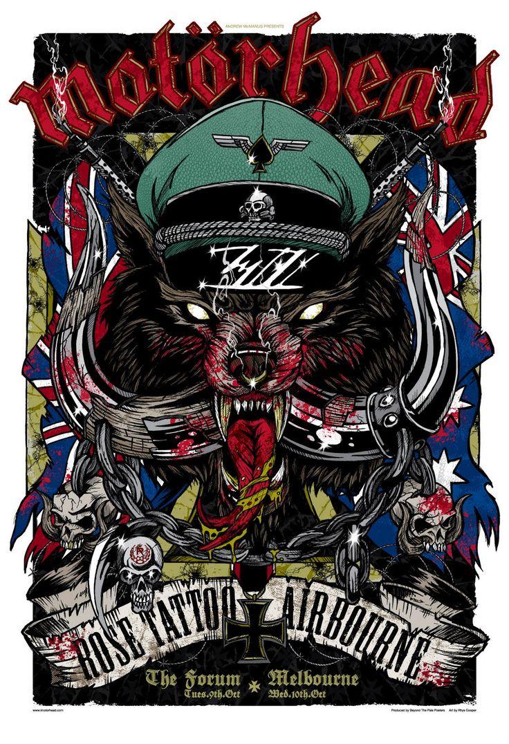 Motorhead bastards music hd wallpaper 21996 hq desktop - Rhys Cooper S Poster For Motorhead Live In Melbourne