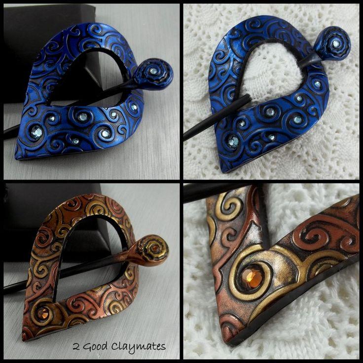 2 Good Claymates: New Shawl Pins