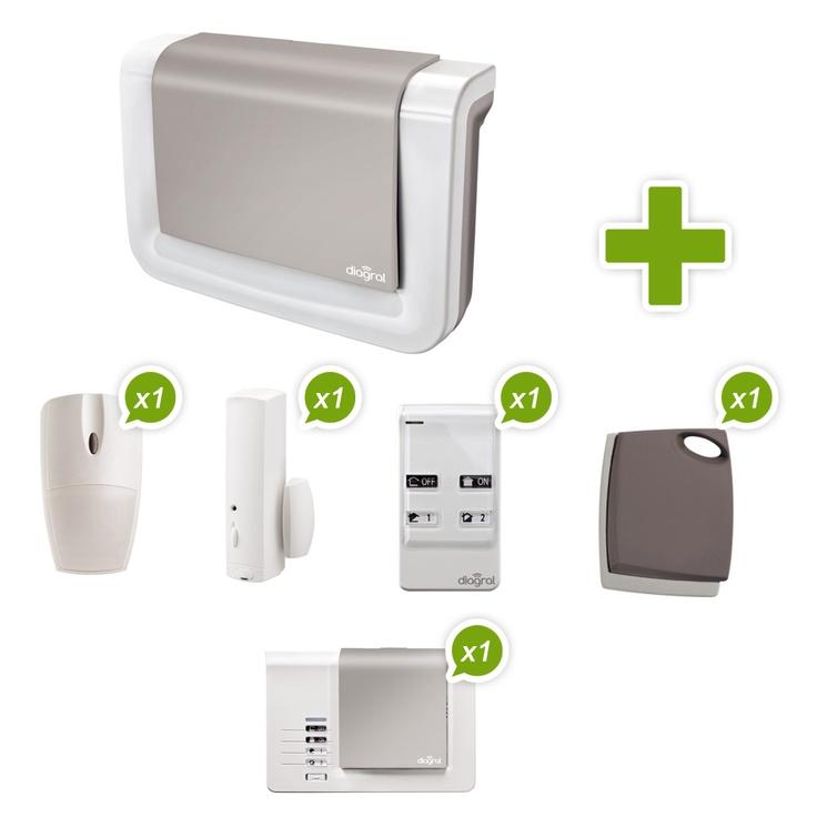 10 best kit alarme sans fil de maison diagral images on pinterest homes kit and animaux. Black Bedroom Furniture Sets. Home Design Ideas