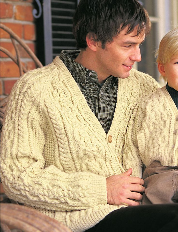 Amazing Knitting Patterns : Yarnspirations.com - Patons Dads Cardigan - Patterns Yarnspirations ...