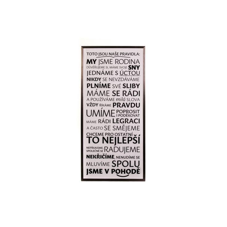 Originální designový plakát Pravidla rodiny pro Váš HEZKÝ SVĚT. - HEZKÝ SVĚT