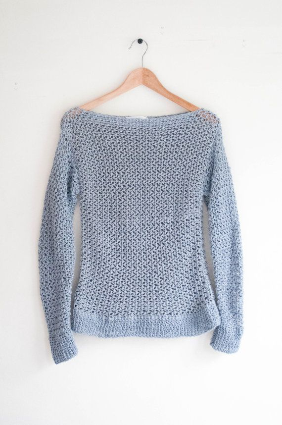 ♢ The Spring Sweater ♢ ★ Crochet pattern for a normal fitted woman's sweater.. ★ Perfect for any age. ★ Easy to modify. ★ Size: S, M, L ★ Skill