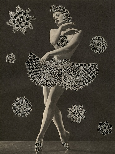 Snowballet, 2009.  Collage by Angelica Paez.