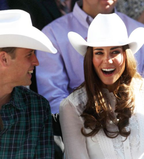 July 8, 2011 - Their Royal Highnesses watch the Calgary Stampede Parade with guests.