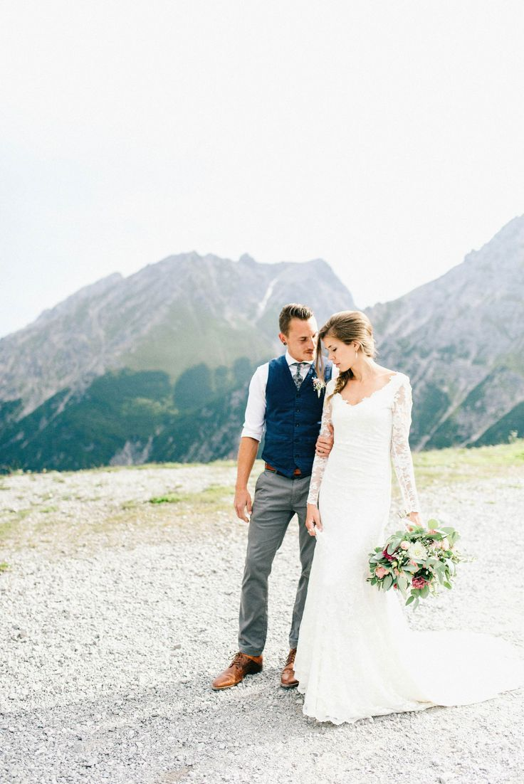Wedding in Austria - Lünersee. Destination Wedding in the alps of Austria.