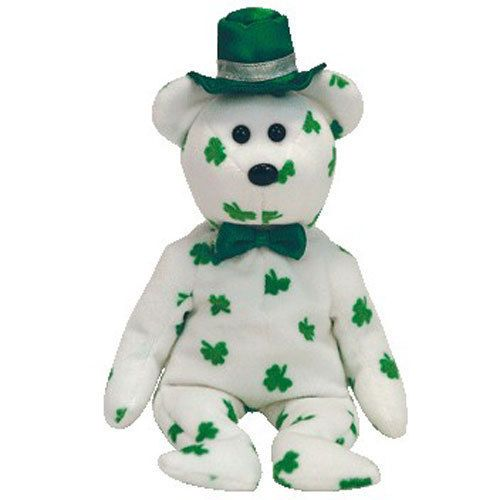 details about ty beanie baby - o u0026 39 fortune the irish bear  10 inch