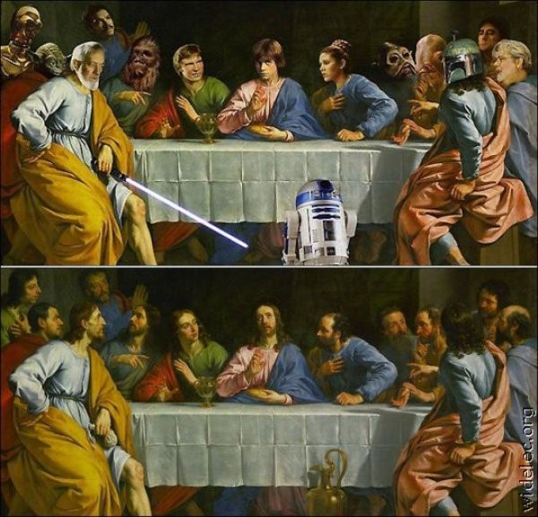 Would say I'm going to hell but yeah.....: Geek, Nerd, Stuff, Last Supper, Stars, Art, Star Wars, Suppers, Starwars