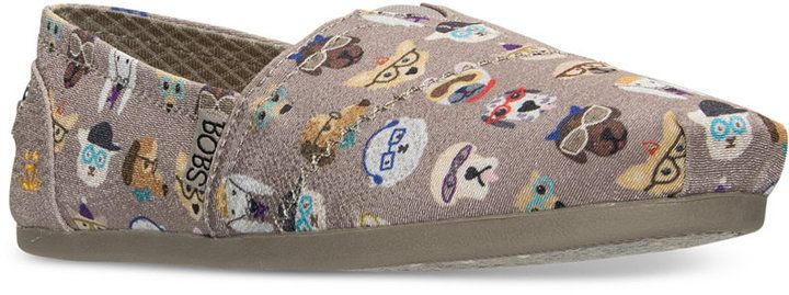 Skechers Women's Bobs Plush - Pup Smarts Casual Slip-On Flats from Finish Line
