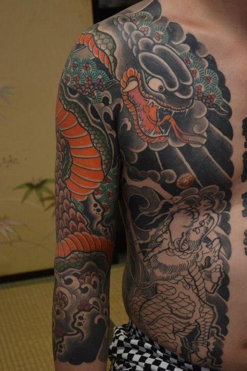 Incredible Sleeve Tattoo: Incredible Full Sleeve And Half Torso Traditional Japanese