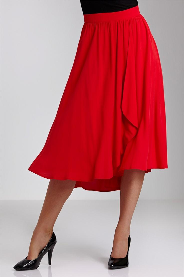 Mid Length Pencil Skirts - Skirts - Grace Hill Draped Skirt. - EziBuy Australia