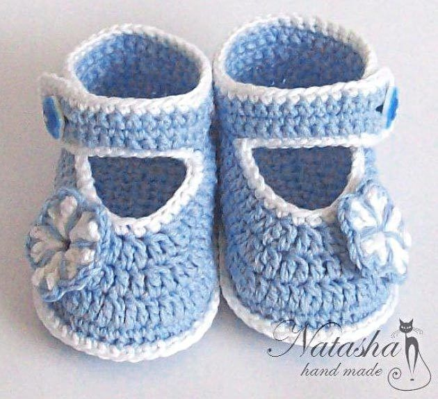 Chaussons bébé de 0 à 6 mois , avec ses grilles gratuites !                                                                                                                                                                                 Plus