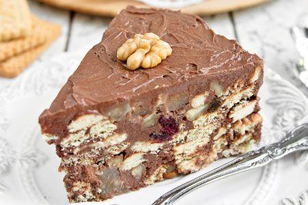 Τούρτα με καρύδια, κράνμπερις και μπισκότα - Συνταγές | γλυκές ιστορίες