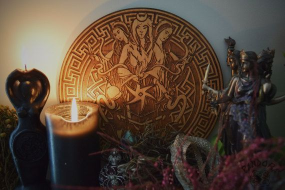 Hey, I found this really awesome Etsy listing at https://www.etsy.com/listing/499916006/altar-pentacle-hecate-hecate-symbol