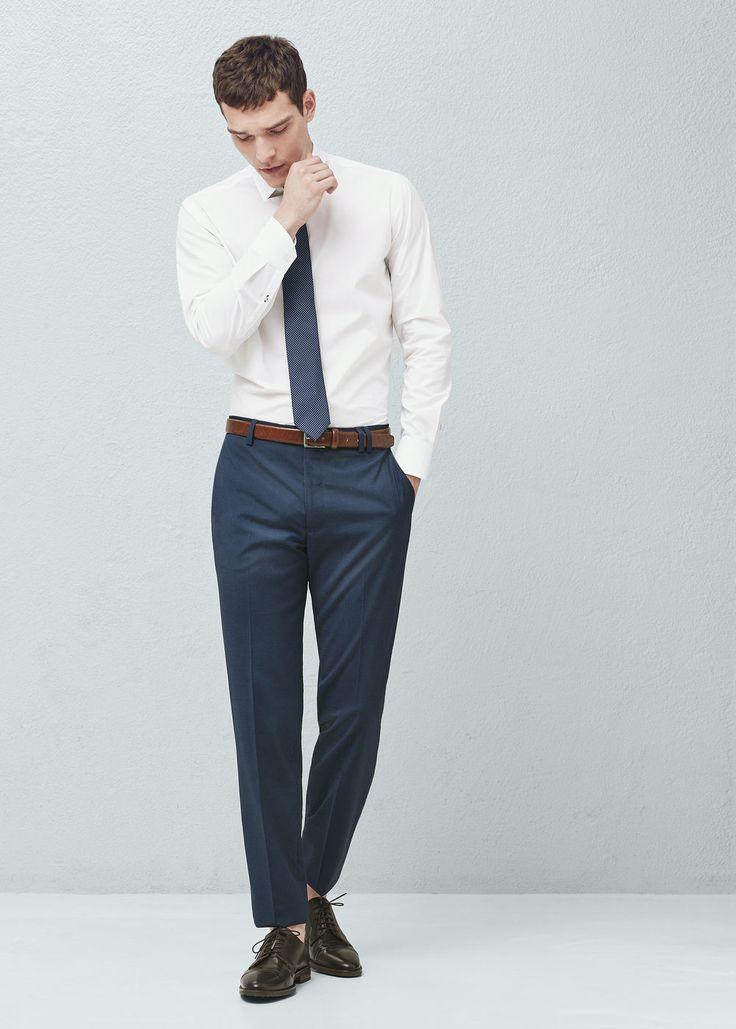 Pied-de-poule slim-fit pantalon