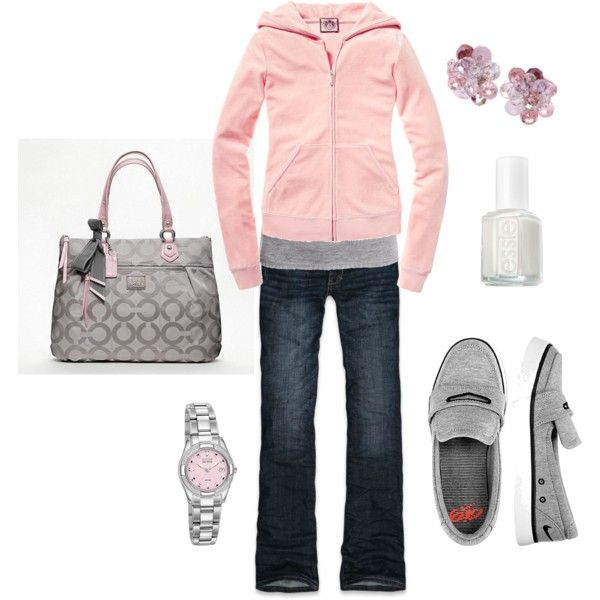 Casual, loving this... if only it was cheaper!: Weekend Outfit, Coach Bags, Dreams Closet, Weekend Wear, Casual Looks, Everyday Outfits, Clothing Shoes Pur, Pink And Gray, My Style
