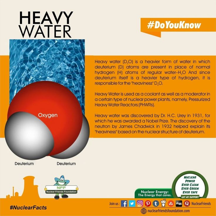 #DoYouKnow Heavy Water is used as a coolant as well as a moderator in a certain type of nuclear power plants namely Pressurized Heavy Water Reactors (PHWRs). Reach us @ http://ift.tt/2m2bJNv #NuclearFacts #NuclearPower #NuclearEnergy #NFF #NuclearFriendsFoundation #Clean #Green #RenewableEnergy