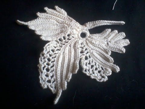 How to crochet a vine leaf, pattern in Priscilla no2,   made with no 10 thread and a 1,5mm hook