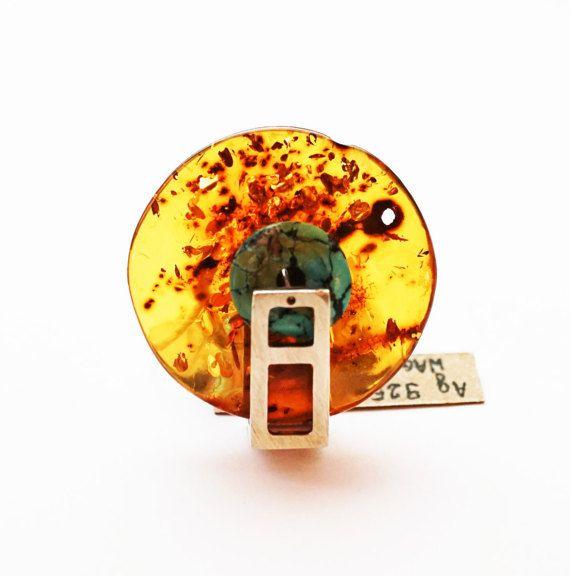 Natural Baltic Amber Ring 16g