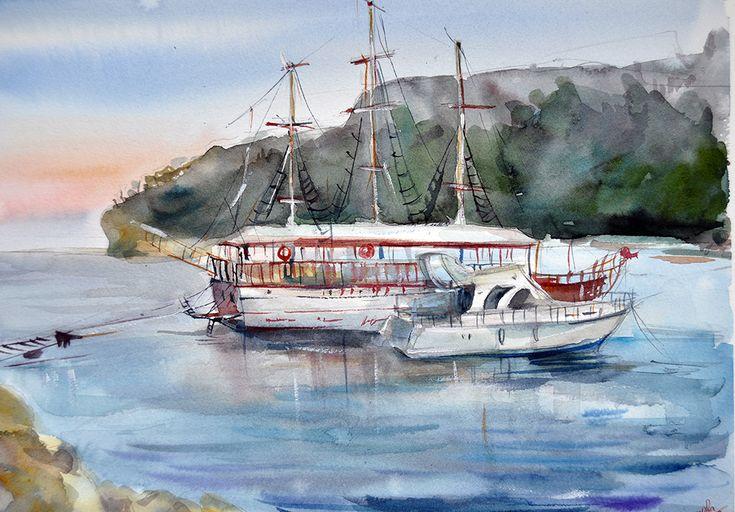 Ships in Kemer on Behance