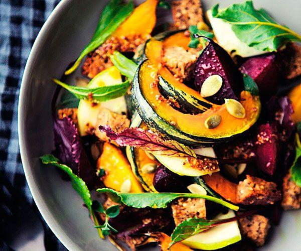 Autumn Panzanella Salad recipe