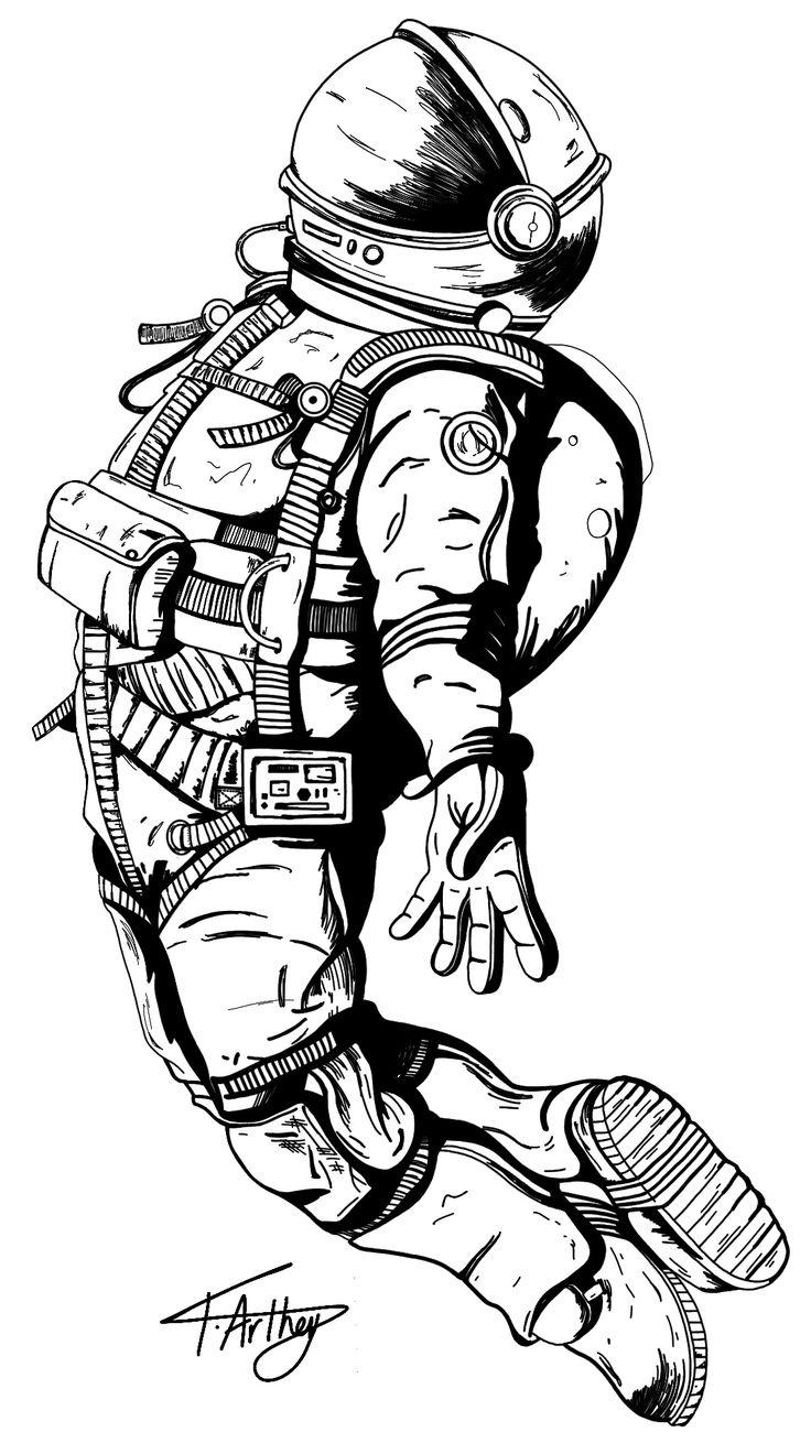 астронавт картинка для тату
