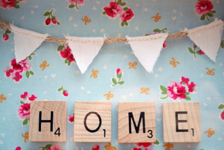 Arte de pared de Scrabble de Home Sweet Home