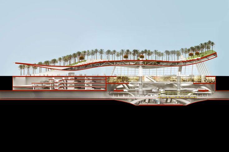 gerber architekten create dune-shaped olaya metro station