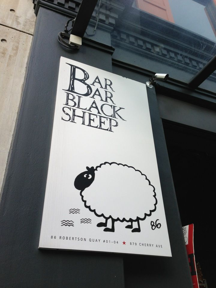Yummy river side beers and dining (Indian, Thai, Western) at Bar Bar Black Sheep, Robertson Quay. 15-20 mins walk.