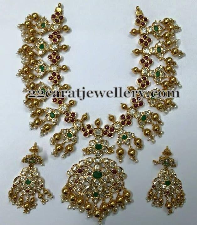 Gota Pusalu Necklace with Pachi Work | Jewellery Designs