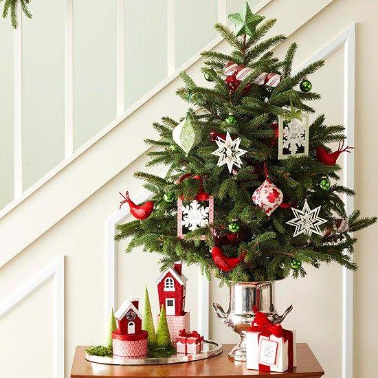 Weihnachstdekorationen Flur Kleine Wohnung Konsolentisch Arrangement